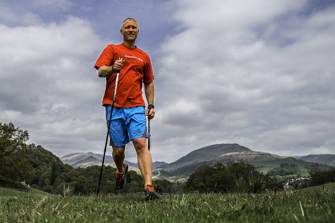 Bieganie po górach z kijkami do Nordic Walking